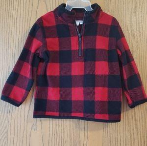 Plaid Half-zip Sweater